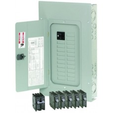 Electrical distribution panel weather proof with circuit breaker outlets